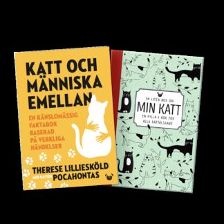 """Produktbild: bökerna """"Katt och människa emellan"""" och """"En liten bok om min katt"""""""